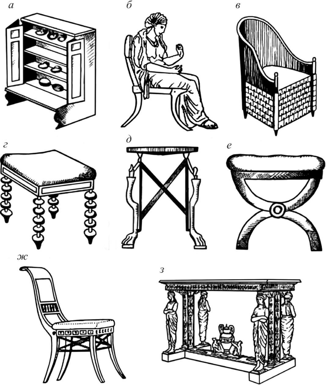 мебель в древнем риме картинки небольшой кусочек