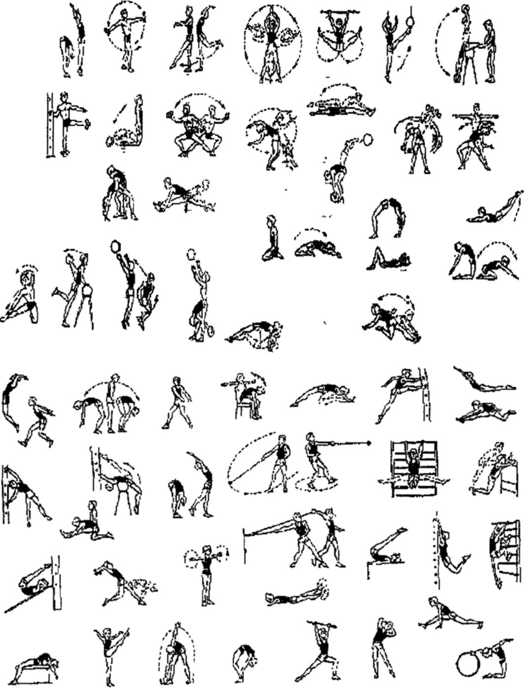 для упражнения для разминки с картинками открылся