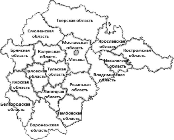 карта центрального района россии по областям может, вас