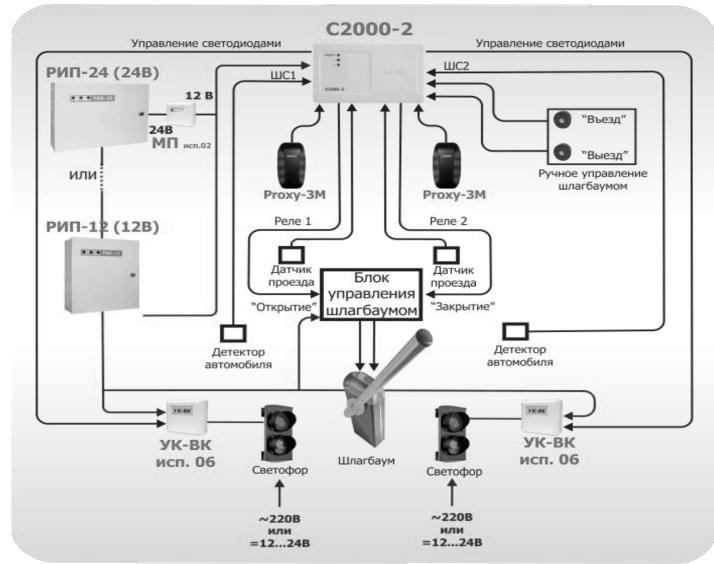 адресный расширитель с2000 ар1 схема подключения